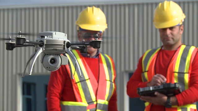 Drone Inspection of a Roof_Industrial_SkyWorks